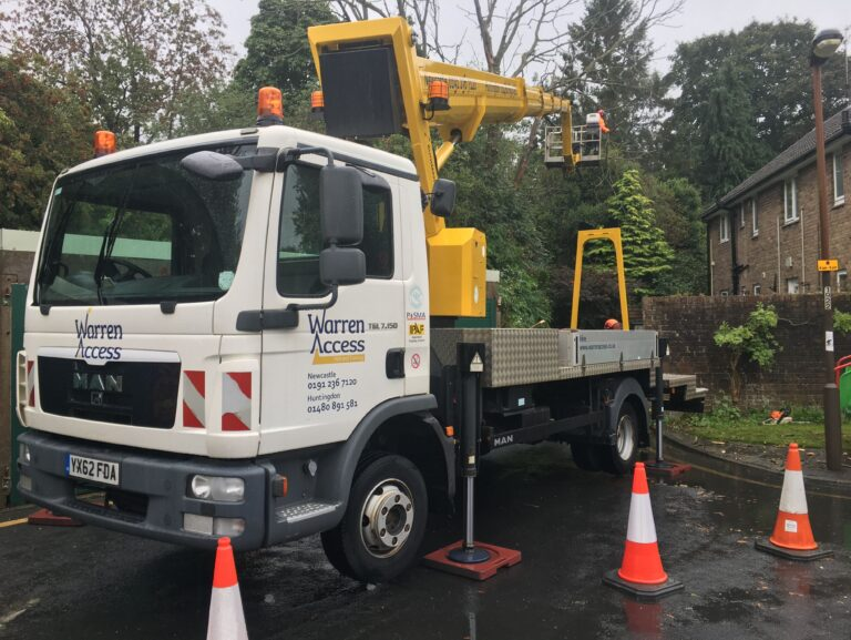 Warren Access - truck mounted platform - work safe and reduce accidents at work