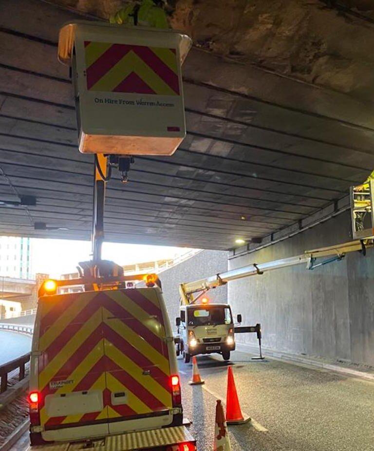 Highway Repair - 18m Ascendant Truck Mounted Access Platform