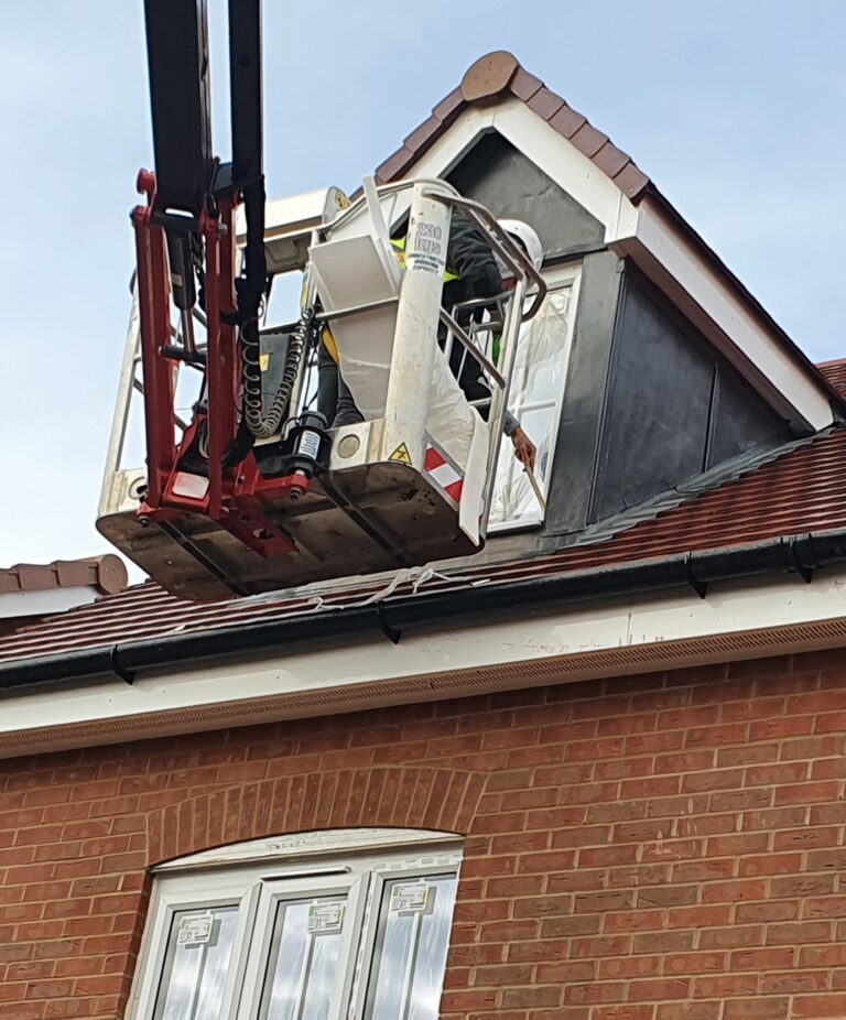 Window Repair - 17m Hinowa Lightlift 1775 Tracked Access Platform