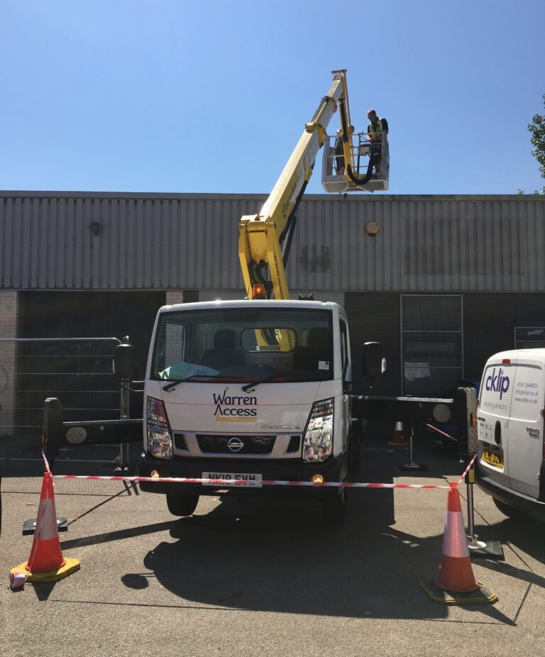 Easy low level Roof Access - 20m Isoli Truck Mounted Platform