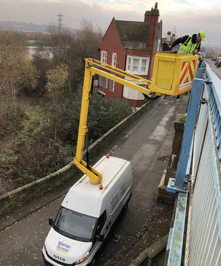 Bridge Repairs - 12.5m Ascendant A12.5VM Van Mounted Platform