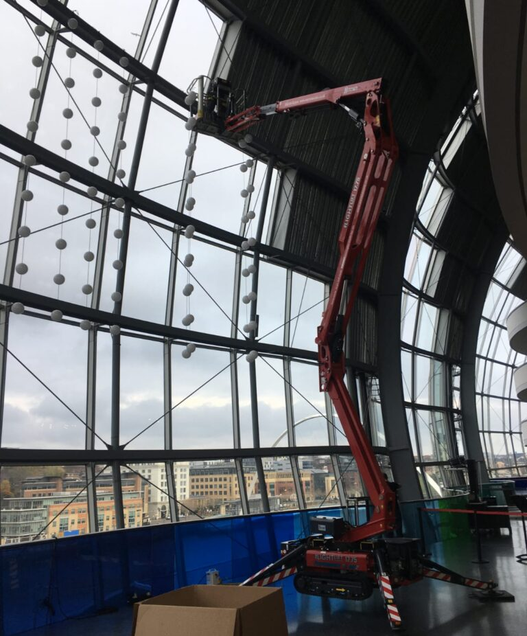 Indoor Cleaning - 17m Hinowa Lightlift 1775 Tracked Boom Lift