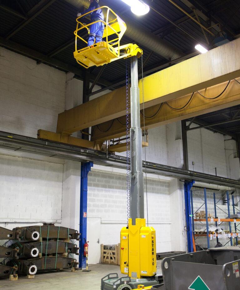 Lighting - Haulotte Star10 - Electric Vertical Mast Boom Lift
