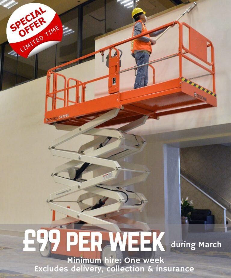 26' Scissor Lift Offer £99 Per Week March 2021