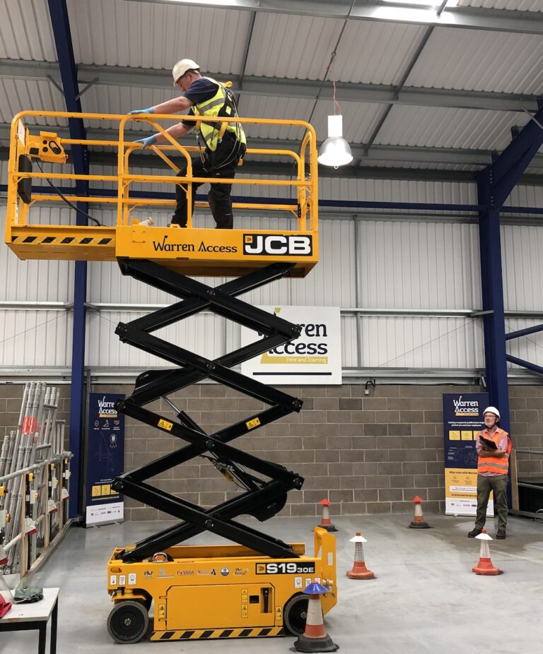 Extended Platform - 7.8m JCB S1930E Narrow Electric Scissor Lift