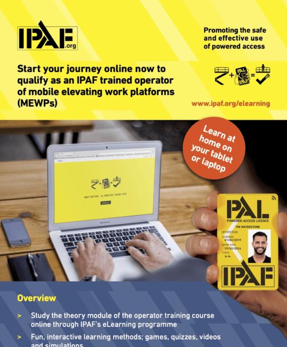 IPAF MEWP Operator eLearning