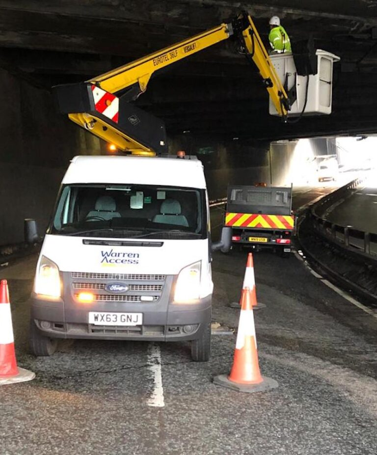 Bridge work - 13m Versalift Van Mounted Platform