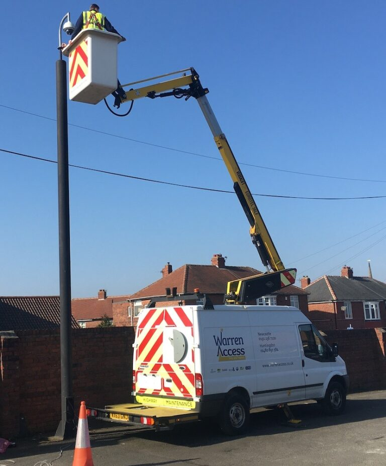 Lamp repairs - 13m Versalift Van Mounted Platform