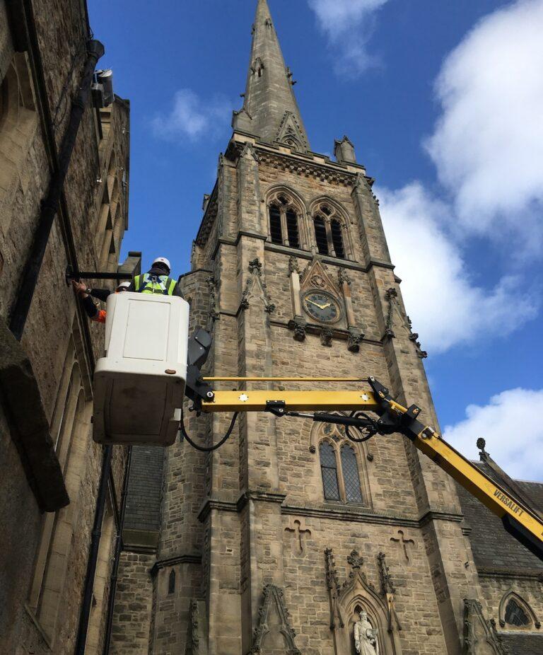 Church Repairs - 13m Versalift Van Mounted Platform