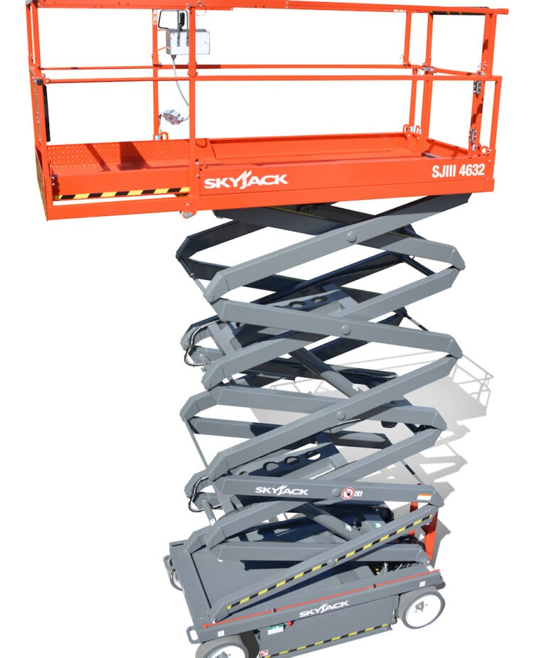 Extended - 11.6m Skyjack 4632 - Electric Scissor Lift