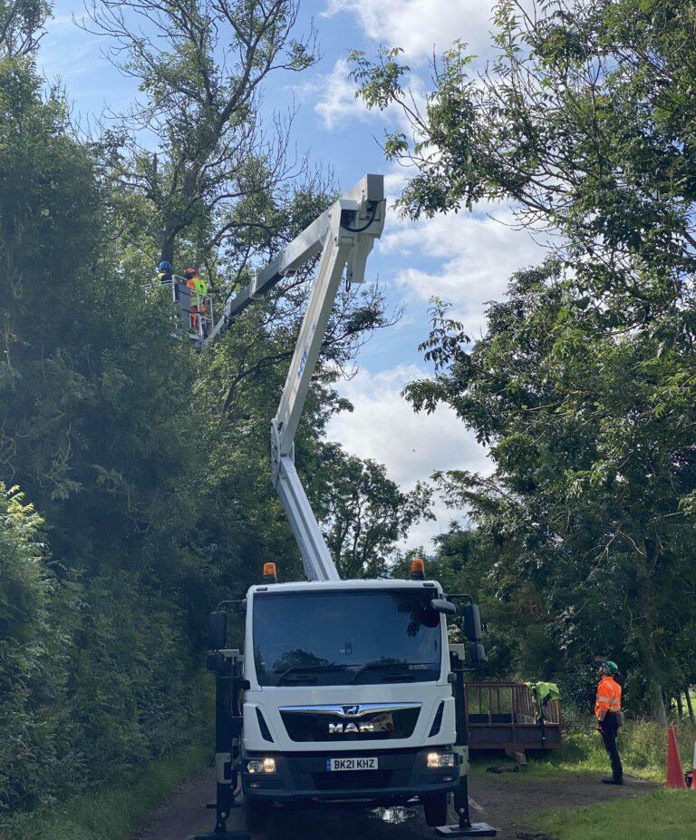 CTE ZED 26JH truck mounted lift platform - Cherry picker tree work