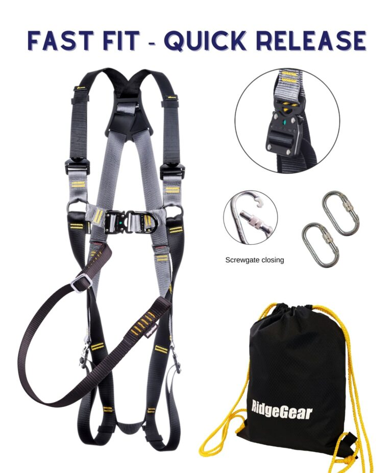 Fast Fit Fall Restraint Harness with Quick Release Buckles