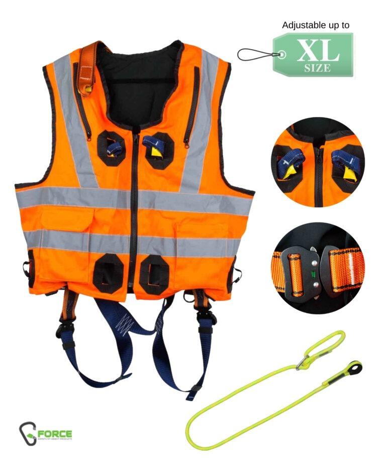 G-Force Hi-Vis Orange Jacket Harness – Quick Release