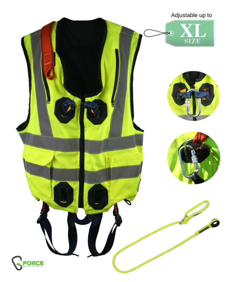 G-Force Hi-Vis Yellow Jacket Harness – Quick Release