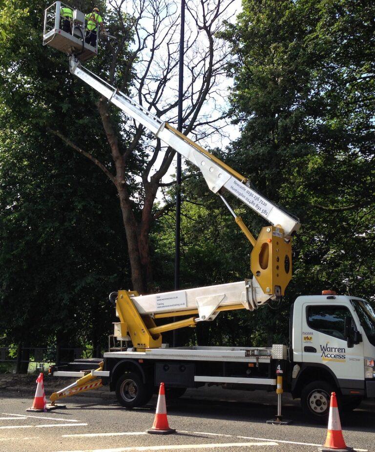 Tree Work - 27m Multitel Truck Mounted Platform