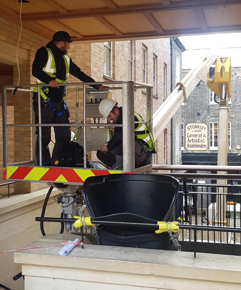 Maintenance work - 27m Multitel Truck Mounted Access Platform