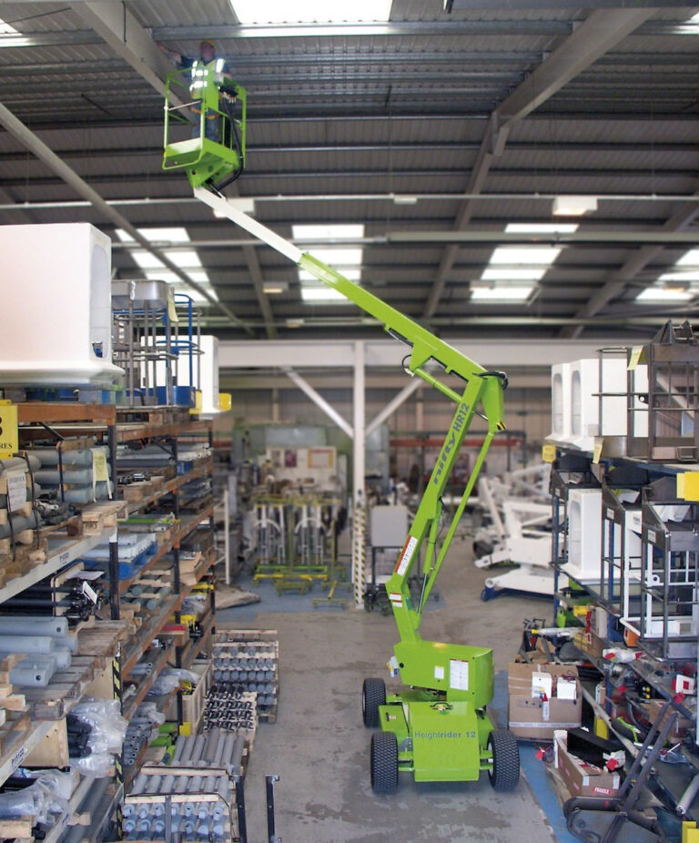Warehouse - 12.2m Niftylift HR12NDE - Bi-Energy Narrow Self Propelled Boom