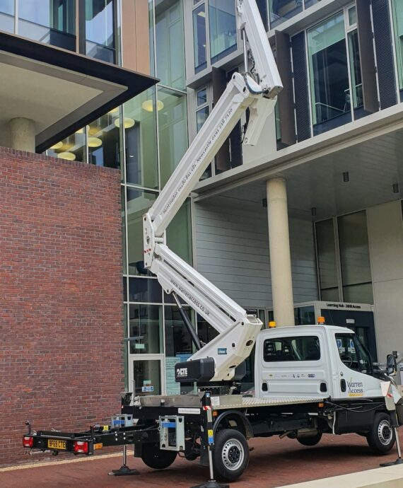 21m CTE 21.3JHL Truck Mounted Platform Operated Hire following a site survey to find the best access platform for the job