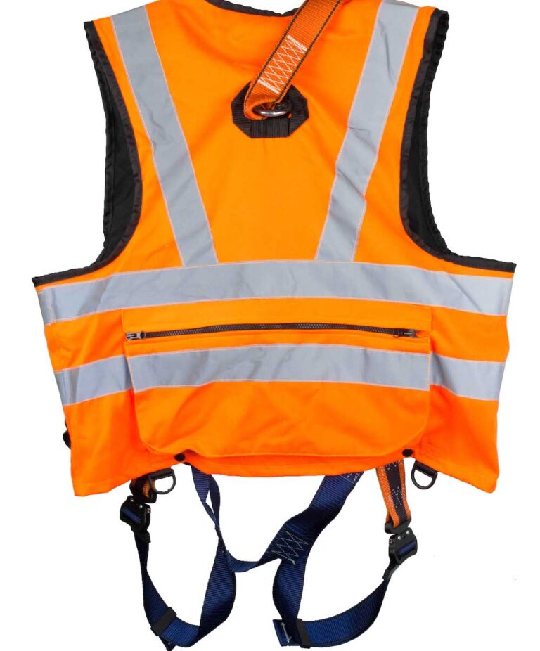 Orange Jacket Safety Harness Back