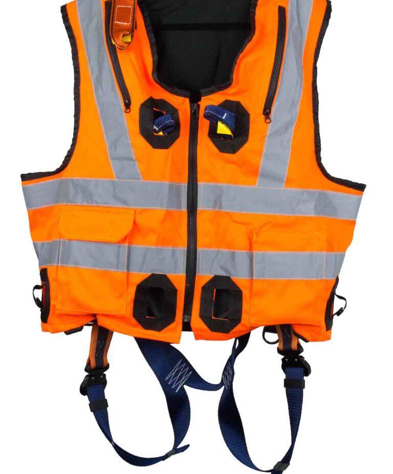 Orange Jacket Safety Harness Front