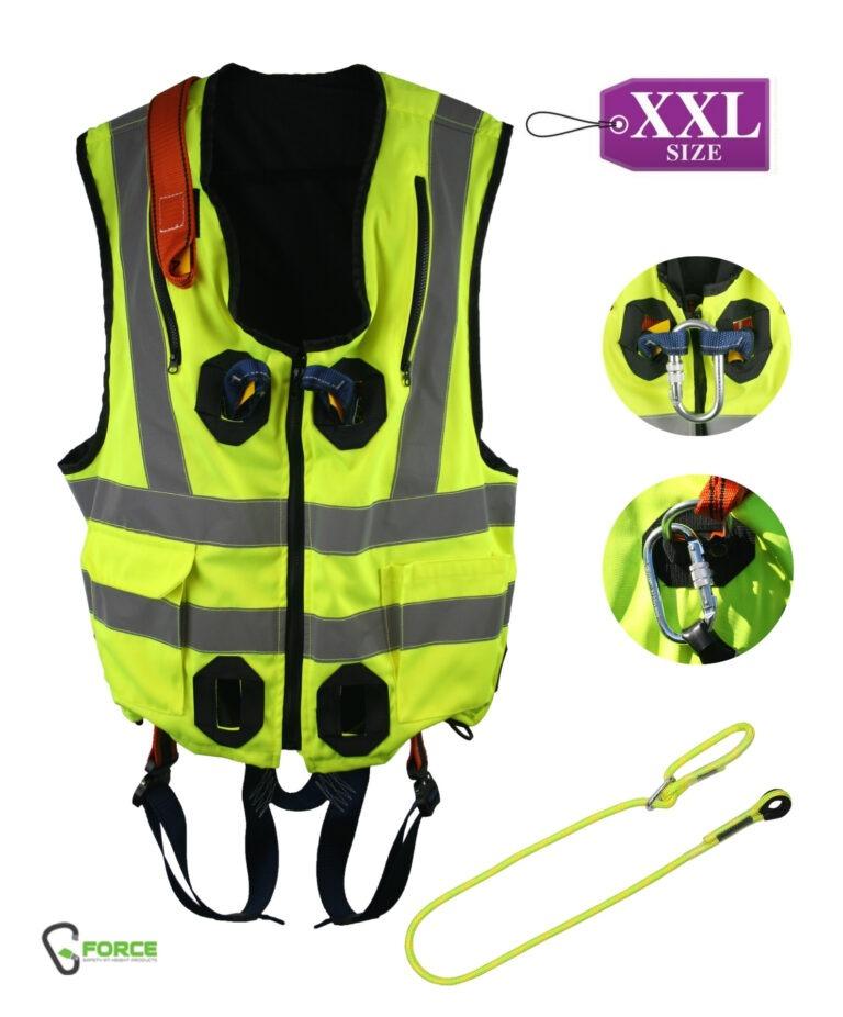 XXL G-Force Hi-Vis Yellow Jacket Harness – Quick Release