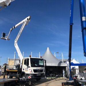 Warren Access CTE truck at vertikal Days 2021 mounted platform